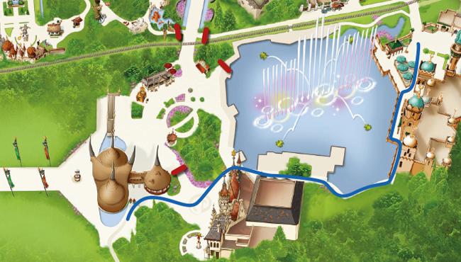 Looproute voor gasten vakantieparken