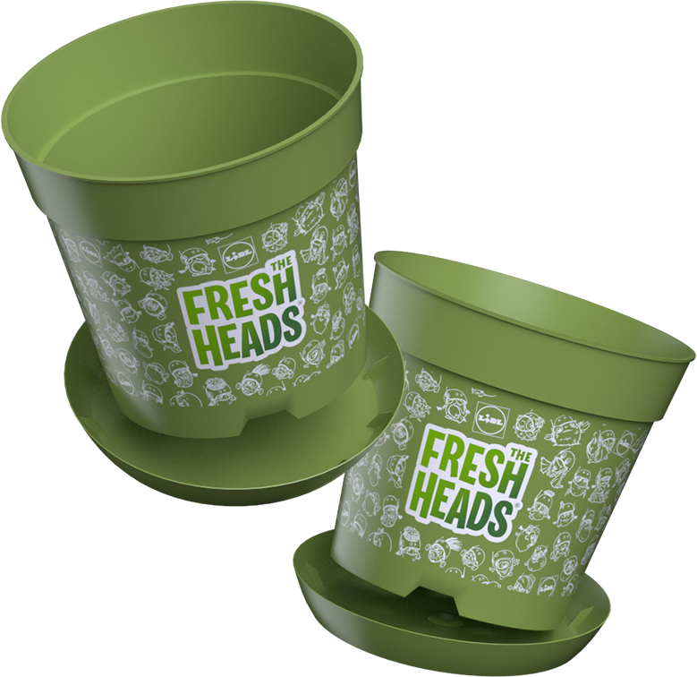 Fresh Heads bloempot