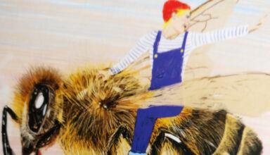 Britt bij de bijen